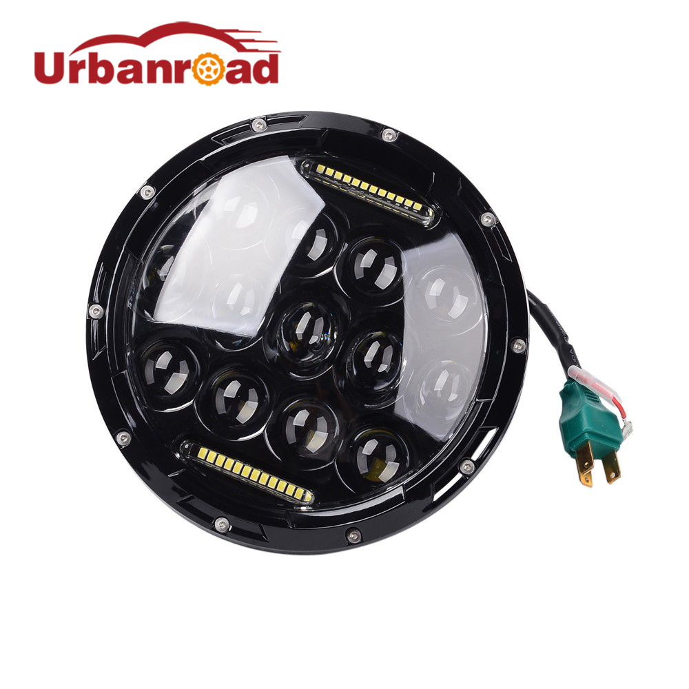 7 inch headlight H4 motorcycle Round Led Headlamp Daymaker hi low beam Head Light Bulb DRL