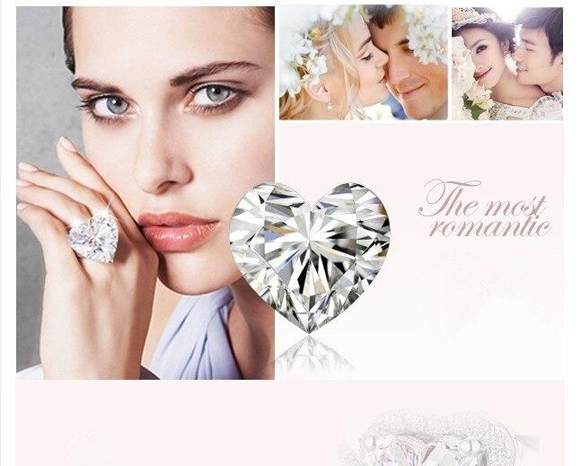 Монументальный Forever Brilliance Moissanite ювелирные изделия 5Ct Твердые 750 розовое золото удивительное обручальное кольцо для женщин розовое золото ювелирные изделия