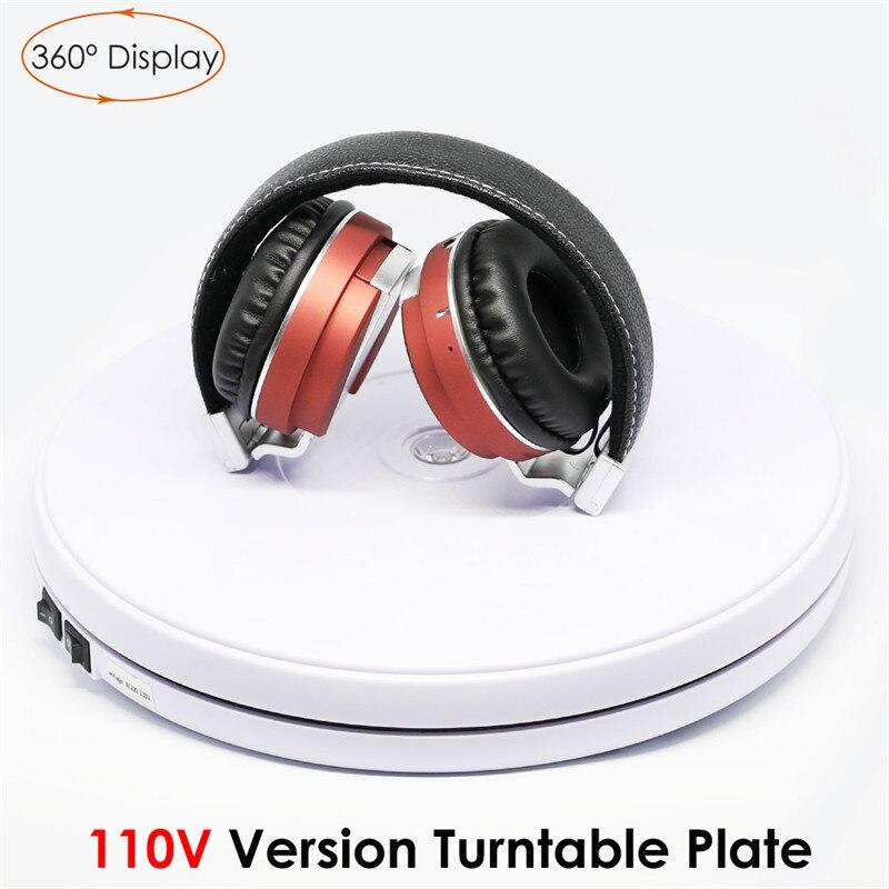 110 V 25 cm Photo 360 degrés plaque tournante électrique plaque Max charge 10 KG blanc pour Studio de photographie Canon Nikon Sony téléphone