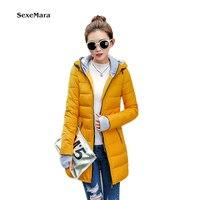 A buon mercato all'ingrosso 2016 Primavera Inverno Caldo di vendita Giù cotone di Modo delle Donne Delle Signore Calde abbigliamento Da Lavoro invernale impermeabile di spessore sottile giacca
