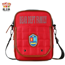BEAR DEPT FAMILY Kids Fashion Messenger Crossbody Bags Children Teenagers School Bag Boys Girls Small Reflective Letter Bags