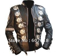 Japonya'da MJ michael jackson KÖTÜ tur Ceket PU Deri Paslanmaz Çelik kartal Punk 100% Casual Dış Giyim proformance gösterisi