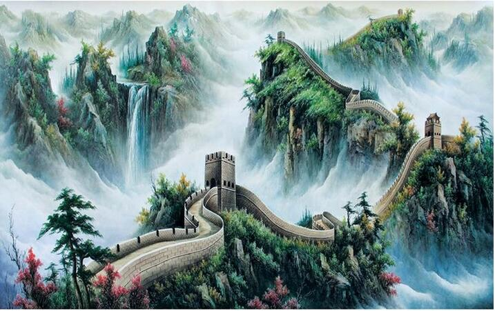 3d Wallpaper Custom Mural Non Woven Wall Stickers Great Wall Chinese