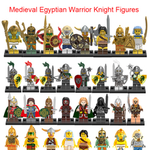 Single Sale Pharaoh Medieval Dragon Knight Mummy Viking Warrior Barbarian Savage Atlantis Ringwraiths Building Blocks Toys