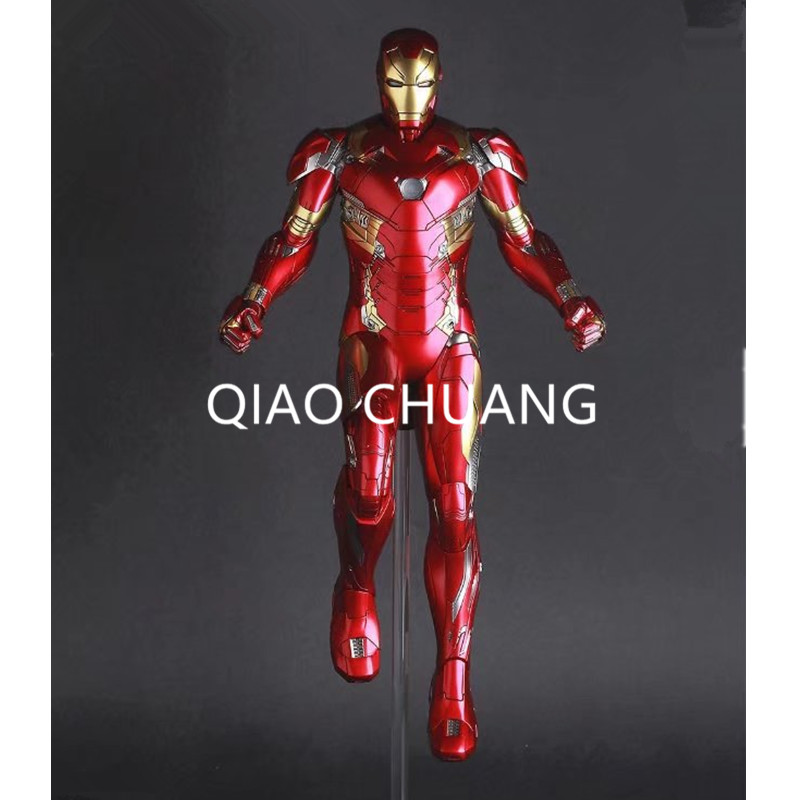 Avengers:Infinity War Superhero Universe Robert Downey Jr Iron Man Mark XLVI Mk46 PVC Action Figure DC Comics Model Toy G100 top quality brazilian body wave 3 5pcs lot 613 blonde virgin hair grade 6a 100 unprocessed hair fast delivery by dhl