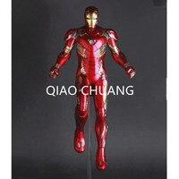 Avengers:Infinity War Superhero Universe Robert Downey Jr Iron Man Mark XLVI Mk46 PVC Action Figure DC Comics Model Toy G100