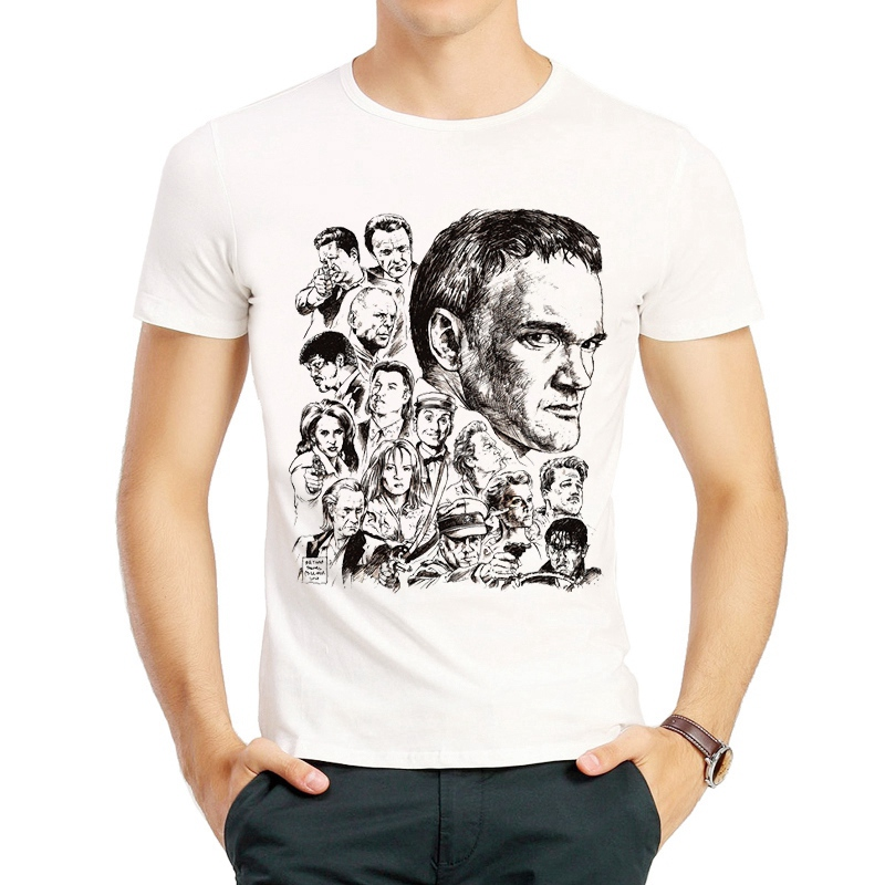 Quentin Tarantino T Shirt Short Sleeve White Color Pulp Fiction Quentin Tarantino T-shirt Tees Top tshirt For Men Women