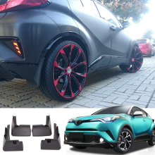 Car Styling 4PCS Front&Rear Plastic Molded Splash Guards Mud Fender Flap For Toyota C-HR CHR 2016 2017 2018