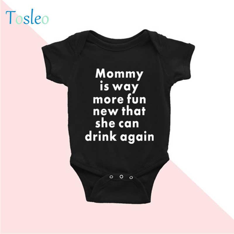 2018 одежда для малышей, летний Забавный Детский боди, белая детская одежда с буквенным принтом, Одежда для новорожденных, боди для малышей, черный цвет