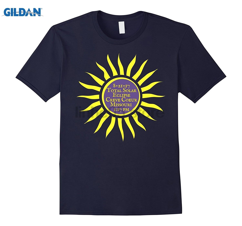 GILDAN Creve Coeur Missouri Total Solar Eclipse Shirt, Sun Tee Hot Womens T-shirt