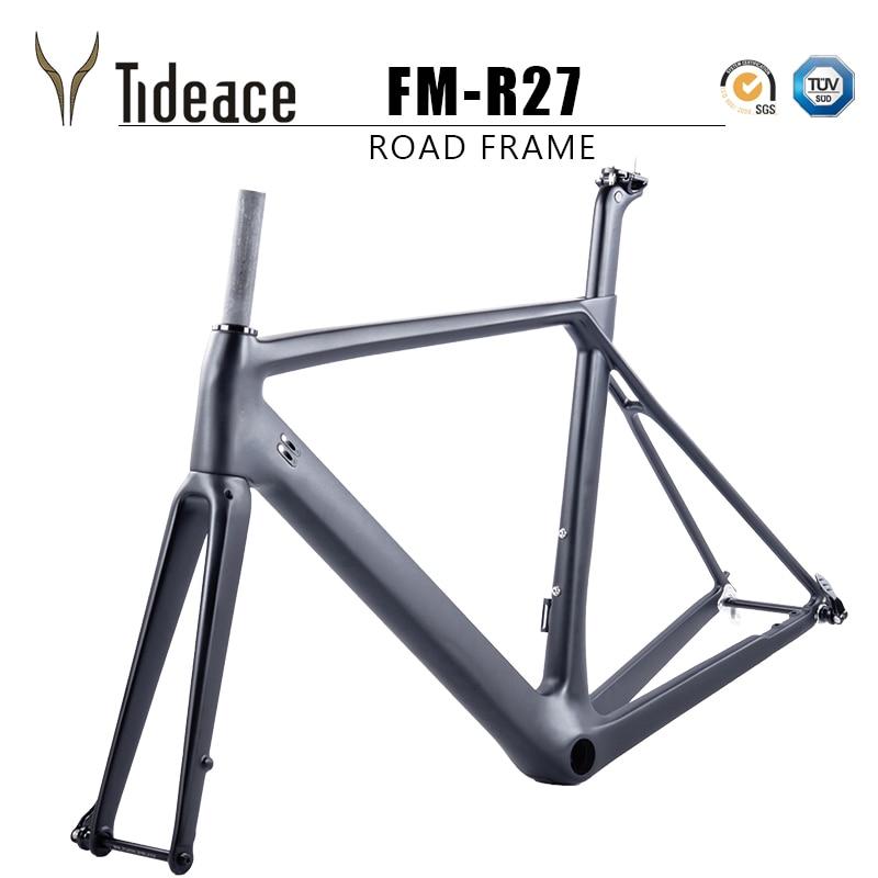 Chinese Flat Mount Disc Brake Or C-brake Carbon Road Frame T800 Aero Full Carbon Fiber Road Bike Frame QR Or Thru Axle
