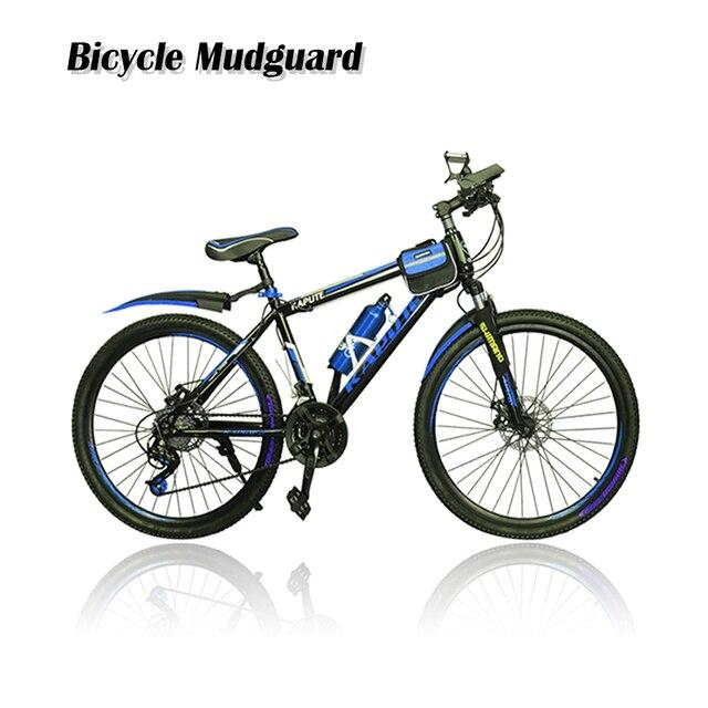 2pcs Double Color Bicycle Mudguard Mountain Bike Fenders Front Rear