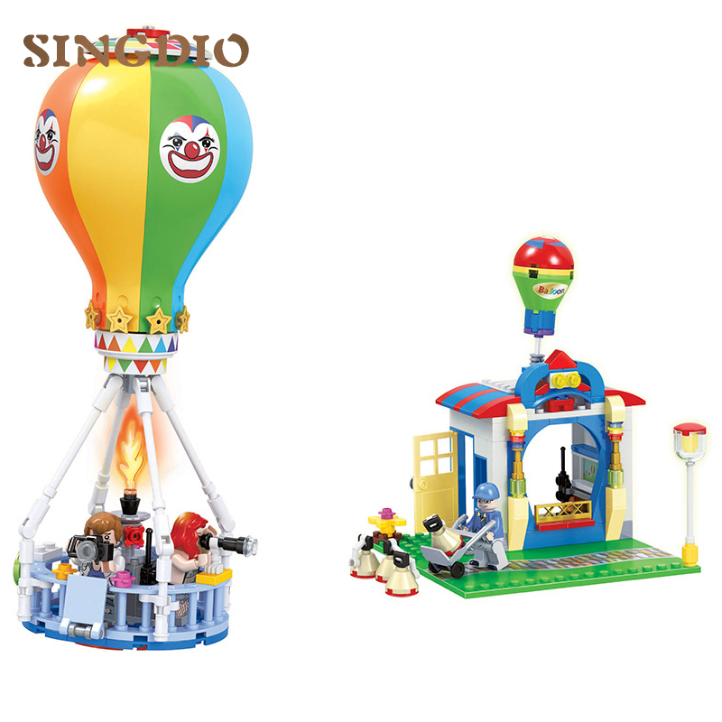 275pcs Air Balloon& House Building Blocks Educational toys for Children Christmas Gifts for kids Blocks Compatible with Duplo shirly new rest stop dream house building blocks compatible with lego bricks girl s educational toys birthday christmas gifts
