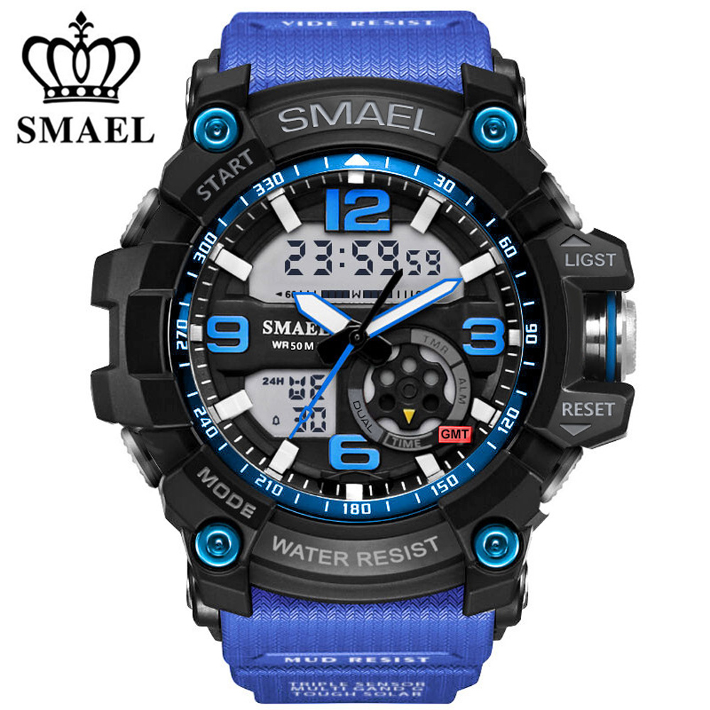 2018 New Brand Digital Sport Watch Men G Style Waterproof Sports Military Watches S-Shock Men's Luxury Quartz Led Digital-Watch s shock mens military watch for men sport watch luxury brand hoska analog quartz and led digital outdoor waterproof watches page 1