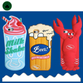 3D Cute Cartoon Pattern Soft Silicone Case South Korea Crayfish Lobster Beer Ice-Cream Back Cover Shell for iPhone 5 6 6S 7 Plus