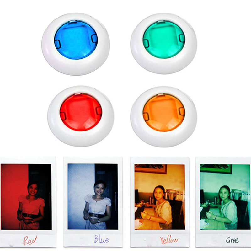 cdbba81178 4 PCS/unids 5/6 unids colorido videocámara Close-up color lente filtro para  Polaroid Fujifilm Instax Mini 9 8 8 7 s KT cámaras de película instantánea