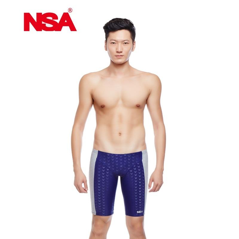 NSA blau haifischhaut, wasserdicht, chlorbeständig männer trainings schwimmen badehose Störsender shorts männer bademode engen hosen