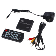 Mini Full 1080p HD Media Player Box MPEG/MKV/H.264 HDMI AV USB 2.0+ Remote Support MKV / RM-SD / USB / SDHC / MMC HDD-HDMI