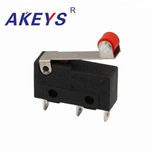 цена на 10PCS MS-016 JL024-03 3-pin red button short hinged roller lever limit micro switch