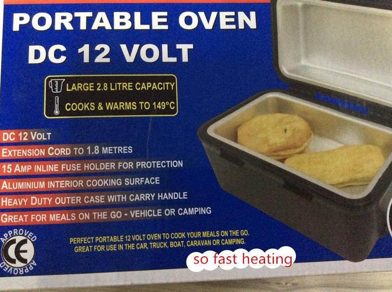 draagbare elektrische auto kachel 12 v travel camping food warmer heater lunchbox oven voor go