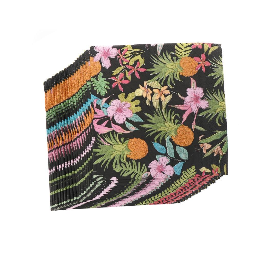 20pcs/pack/lot DIY Pineapple Paper Napkins Print Beverage Butterfly Festive & Party Tissue Decoupage Decors 33*33cm