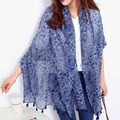 [AETRENDS] 2016 New Fashion Women Cotton Scarf National Cashew Tassel Beach Cape Scarves Z-2337
