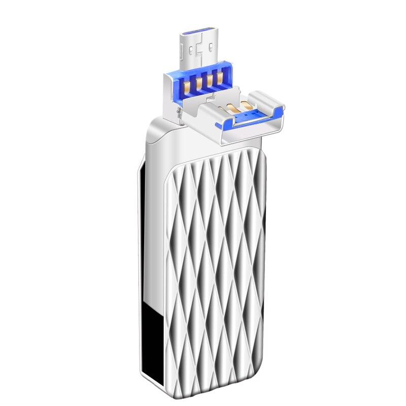 Sunstrsi USB Flash Drive 16GB 32GB OTG Pendrive High Speed 2.0 64GB Flash Drive for iPhone/iPad/Android 3 in 1 OTG USB Stick