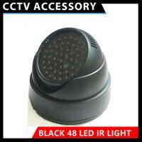 Новый шт. стиль 48 шт. Черный ИК светодио дный ночной источник света инфракрасный свет spotlight дополнительные для камеры видеонаблюдения