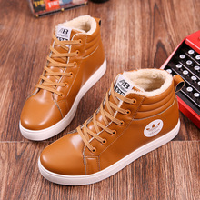 2016 new winter men's casual Martin snow boots with cotton thickened with velvet warm shoes