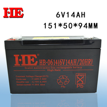 цена на HE small rechargeable sealed lead acid battery agm storage toy car battery 6v 14ah replace 10ah 12ah 151x50x94mm