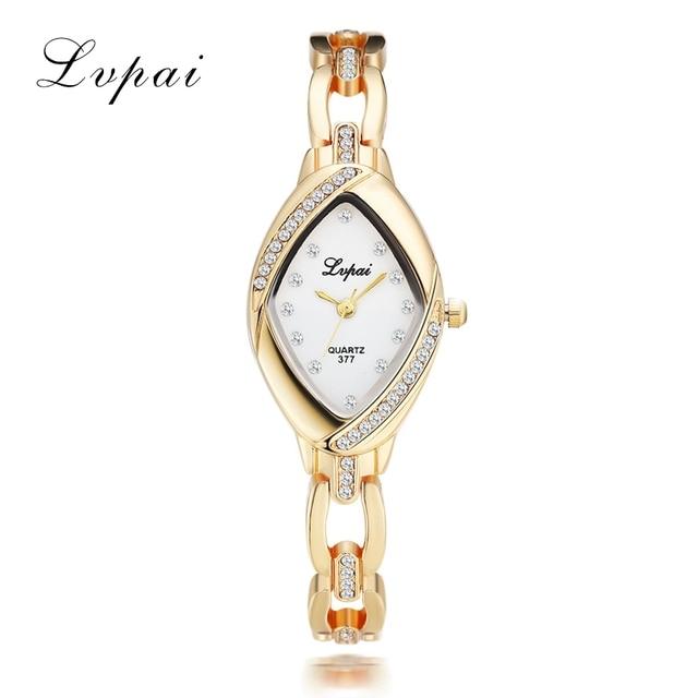 Lvpai Dropshipping Luxury Ladies Bangle Watches for Women Rhombus Cheap Gold Rhi