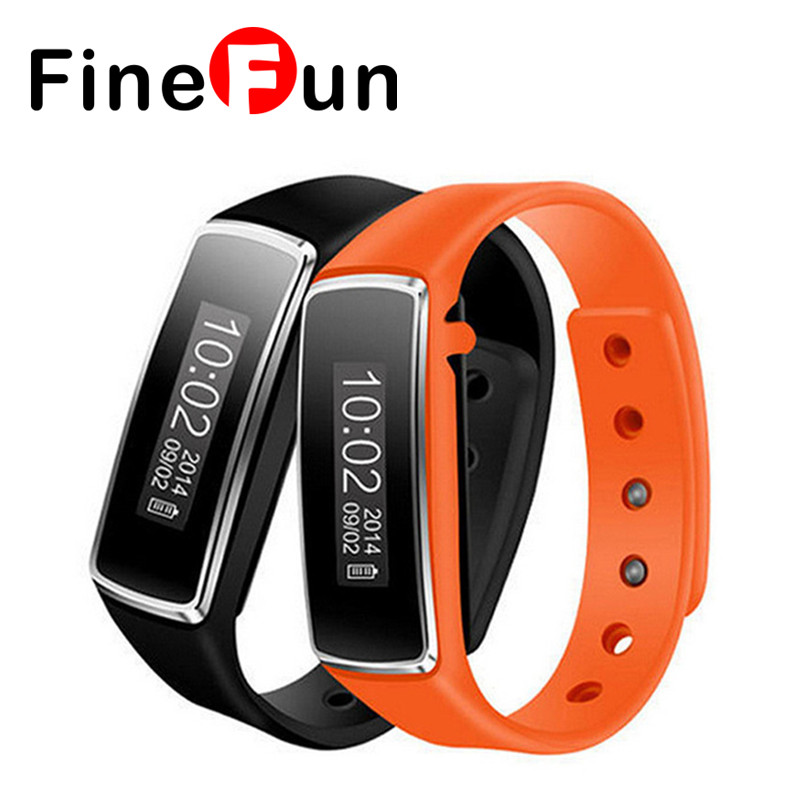FineFun Bluetooth V5 Sleep Sports Tracker Waterproof Remote Wristband Smart Wrist Bracelet Band Pedometer for IOS