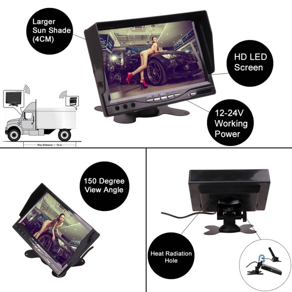 Alətlər paneli tək başına 12V 24V 7 düymlük HD LCD Dayanacaqda - Avtomobil elektronikası - Fotoqrafiya 2