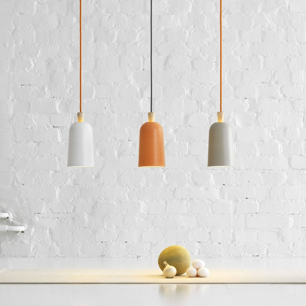 Mini Traditional Nordic Wooden Pendant Lights White Orange Gray Pendant Lamp Cute Suspension For Bedroom Bathroom