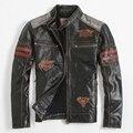 Men's Leather Jacket Skull Jacket Motorcycle Clothing