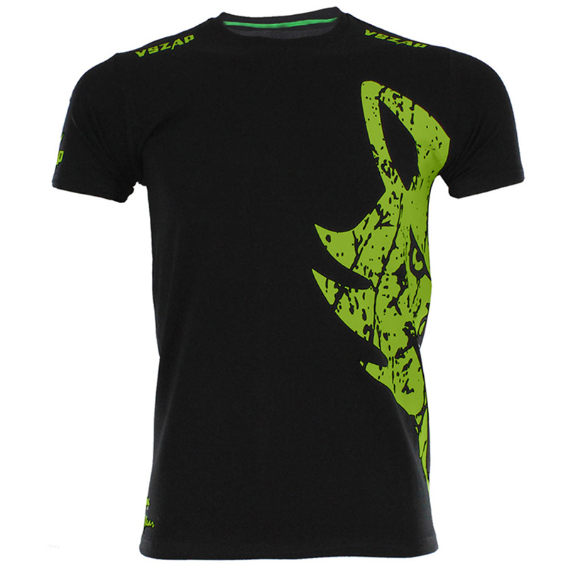 VSZAP Giant Muay Thai Fighting Tees Green Logo Black MMA Jerseys UFC T Shirt Round Neck