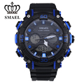 SMAEL Band Mens Chronograph LCD Alarm Rubber Strap Analog Watches Backlight Date Multiple Time Wrist Watch / WCH0037