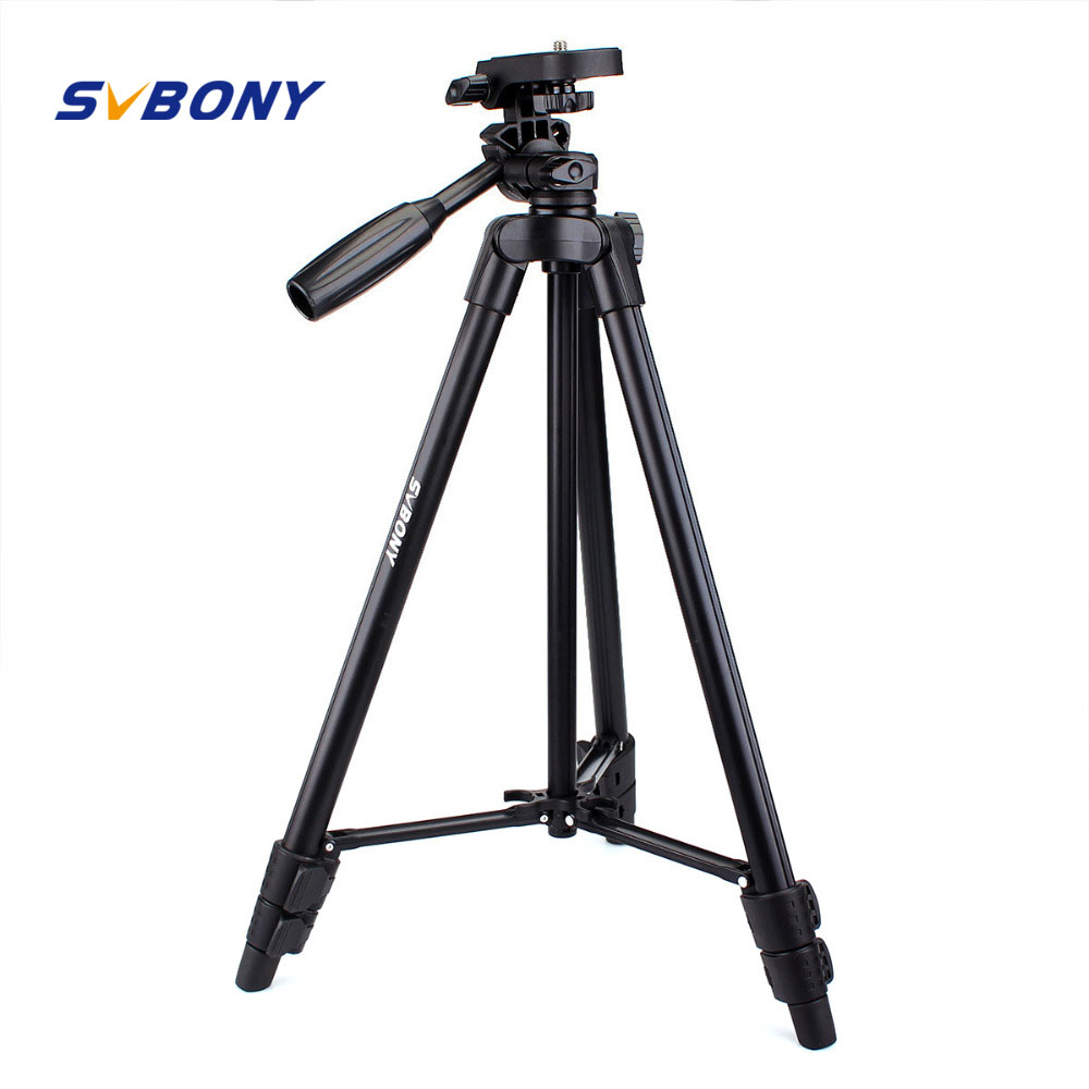 SvBony Portable Tripod For SLR Camera Tripod Ball Head Monopod Changeable Load Bearing 10KG ,Aluminum ,49