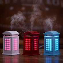 300ML Creative Telephone Booth Air Humidifier Essential Oil Diffuser with LED Lamp Electric USB Ultrasonic Aroma Mist Maker цена и фото
