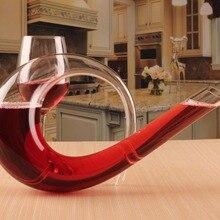 1 шт. бессвинцовый кристалл графин для вина Бутылка ручной работы Свадебный бар набор Подарочная бутылка для воды ужин 1200 мл JS 1103