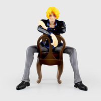 New One Piece POP SOC Sabo sit sofa Anime PVC Action Figure Collectible Model Toy 16cm