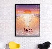 صن شاين كوست رائع توهج الزخرفية لوحات وحدات صورة جدار الفن قماش اللوحة لغرفة المعيشة لا مؤطرة