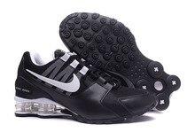 Nike Shox Avenue Air Max сетки для мужчин амортизацию обувь для бадминтона, мужские Удобные Спорт на открытом воздухе дышащие эластичные трек