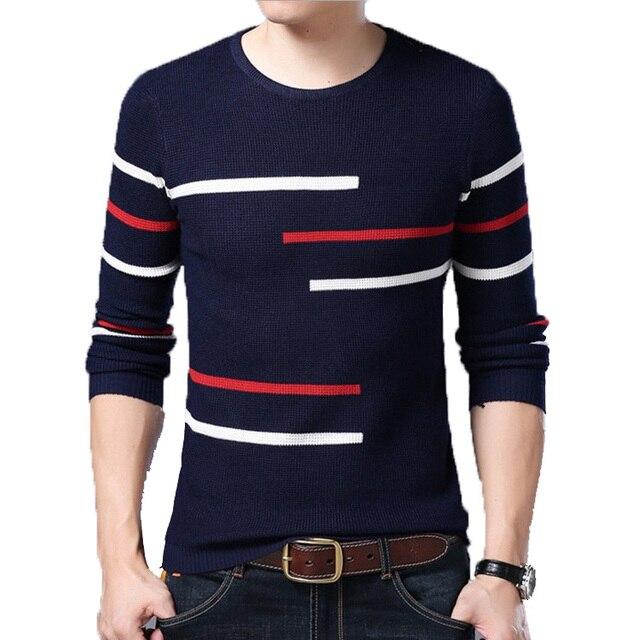 Neue Pullover Männer Casual Herbst Winter Oansatz Pullover Strick Slim Fit Langarm Shirt Herren Pullover Männliche Kleidung