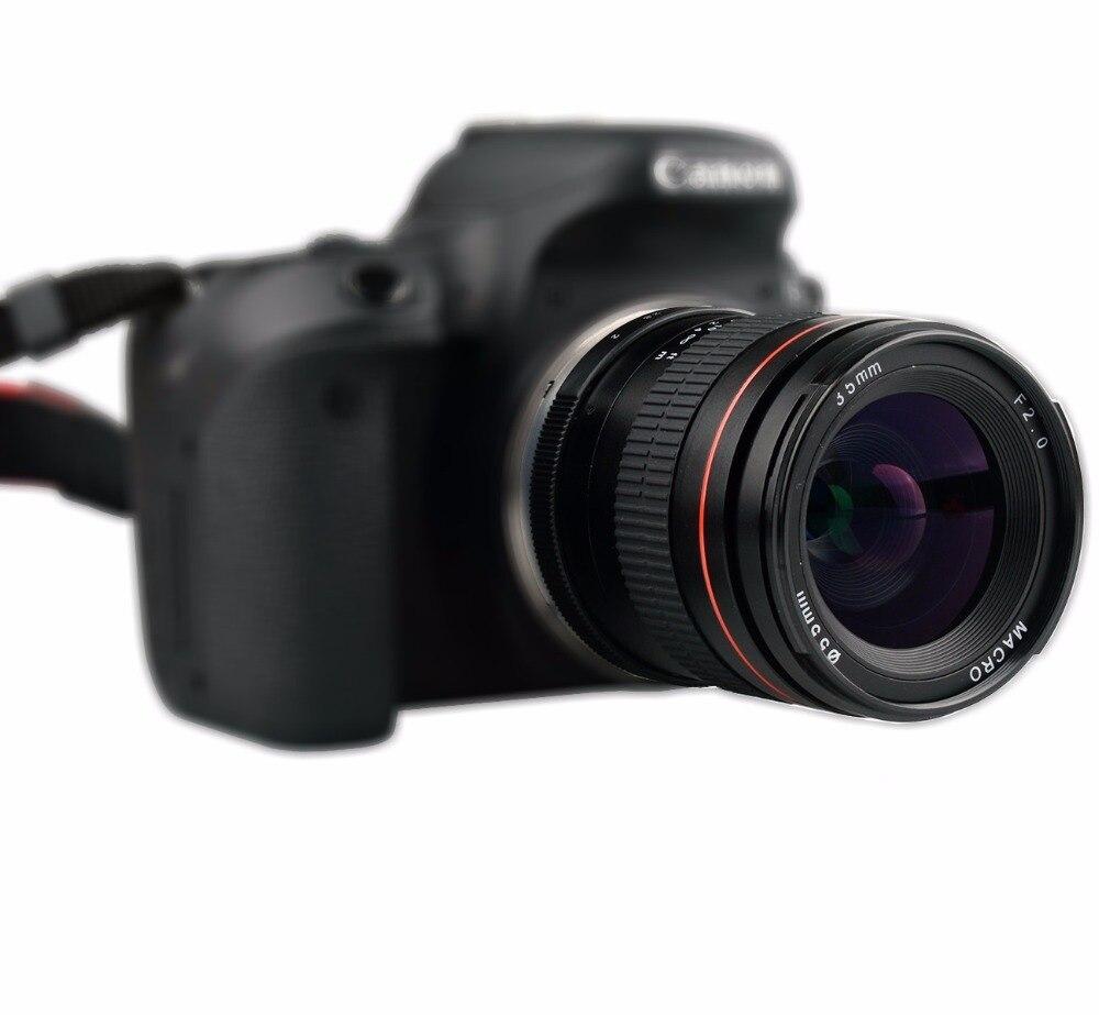 Lightdow 35mm F2.0 objectif plein cadre manuel à grande ouverture à mise au point fixe pour Cannon 550D 600D 650D 750D 5D 5D2 6D 7D appareils photo reflex numériques