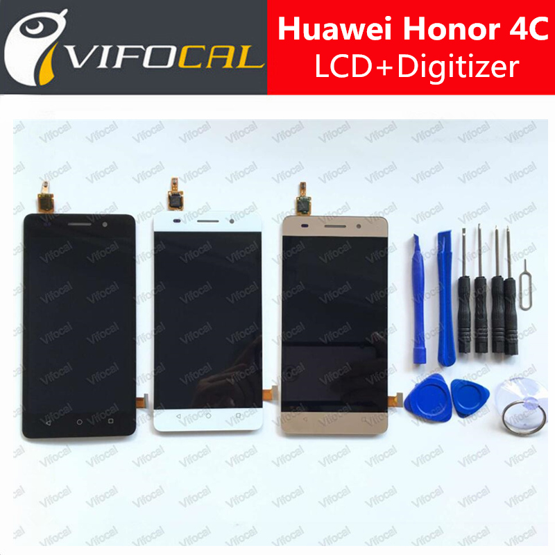 Подробнее о For HUAWEI Honor 4C LCD Display + Touch Screen Sensor High Quality Digitizer Assembly Replacement For Mobile Phone - White replacement parts phone lcd display for huawei honor 4c lcd touch digitizer assembly for huawei honor 4c screen lcd display