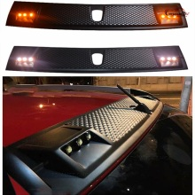 CAR STYLING TOP ROOF COVER PLATE WITH LED LIGHTS STICKER FOR HILUX REVO 2015-2017