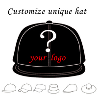 1PCS Personalized Snapback Cap Custom Baseball Hat Trucker Cap Adult Children Size Embroidery Logo Text