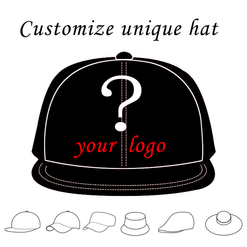 1PCS Personalized Snapback Cap Custom Baseball Hat trucker cap Adult  Children size Embroidery Logo Text snapback style hat 58041b7db720
