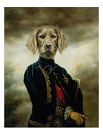 Animal portrait painting The Marquis Thierry Poncelet 100%hand painted Canvas art dogs High quality